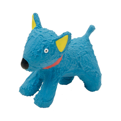 Li'l Pals Latex Blue Dog Toy