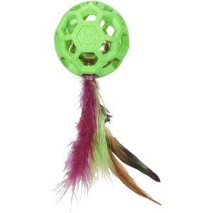 JW Cat Feather Ball and Bell Cat Toy