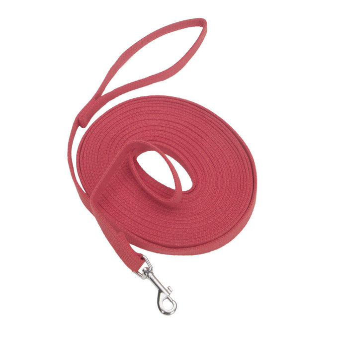 Coastal Dog Leash 20ft Cotton Red
