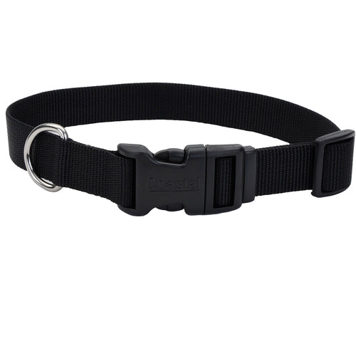 Coastal Adjustable Dog Collar Tuff Black