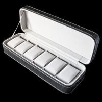 Watch Box - Leather zip 6 Slot