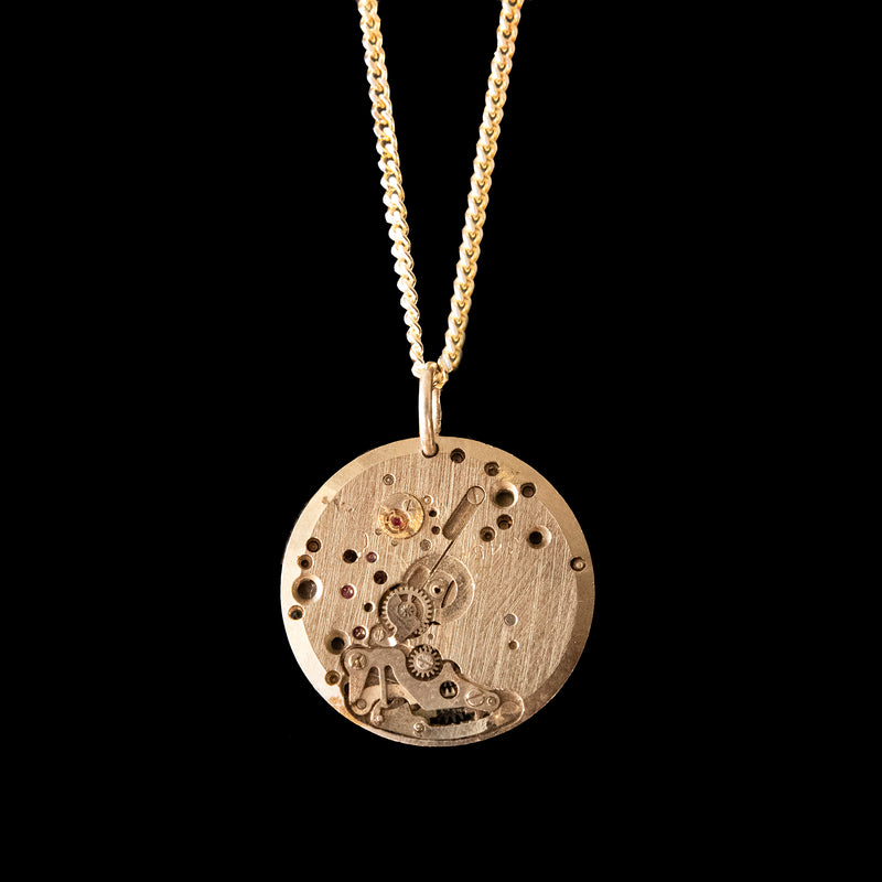 Watch Movement Necklace - Willow