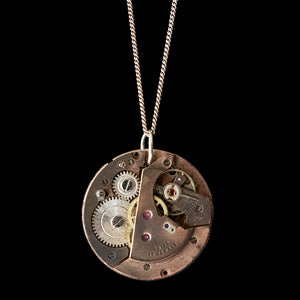 Watch Movement Necklace - Amelia