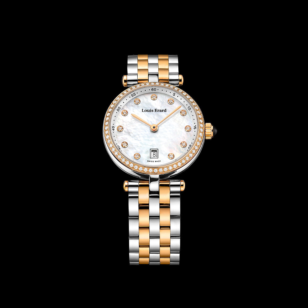 Louis Erard - Romance SS/RG Diamond Bezel Diamond Dial
