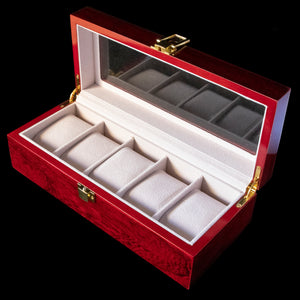 Watch Box - Wooden 5 Slot
