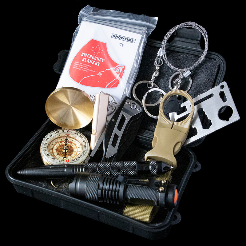 Stealth Kit - 13 in 1 Camping Survival Kit Set