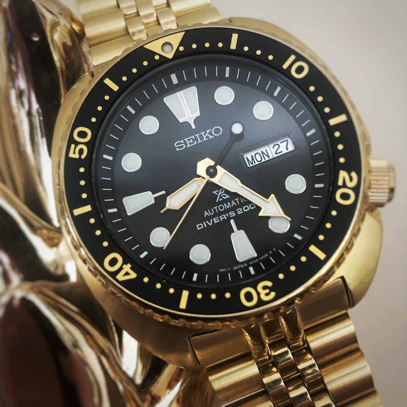 "Seiko - "" Gold Turtle """