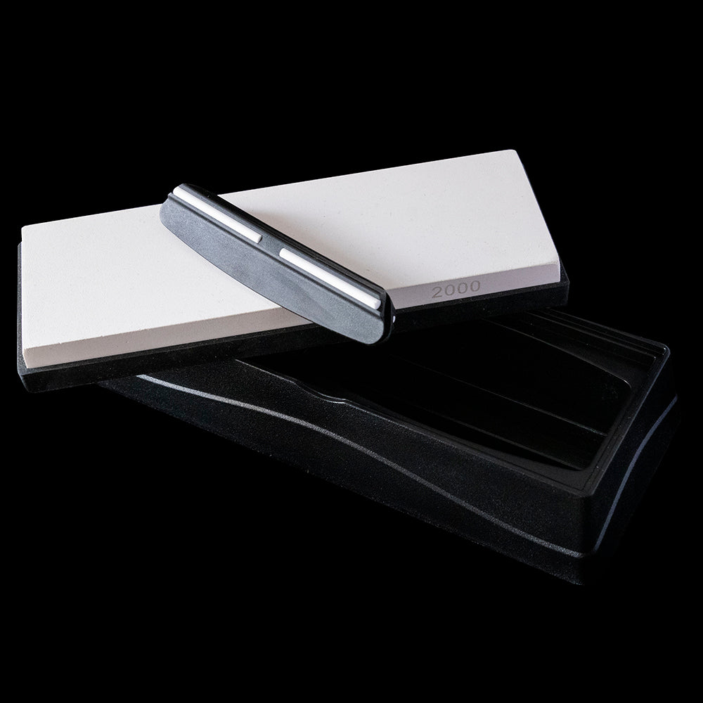 Knife Sharpening Stone - White 2000
