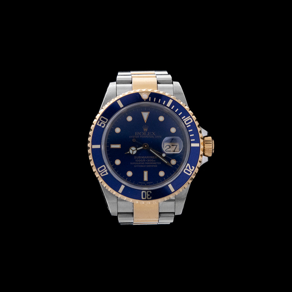 Rolex - 1999 Stainless & Gold Submariner Blue