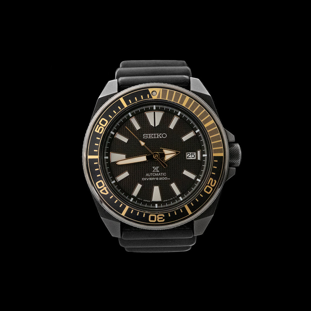 Seiko - Samurai Black & Gold 'The Dark Knight'