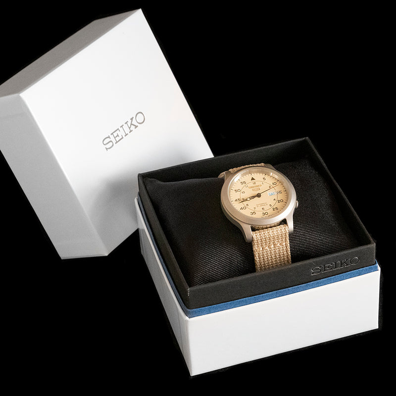 Seiko 5 - Beige Field Watch