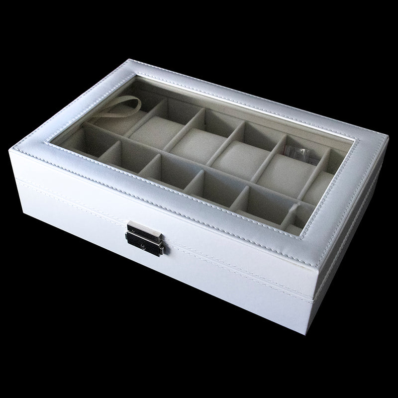 Watch Box - White 12 slot