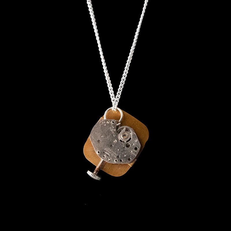 Watch Movement Necklace - Libby