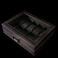 Watch Box - Carbon Fibre 10 Slot