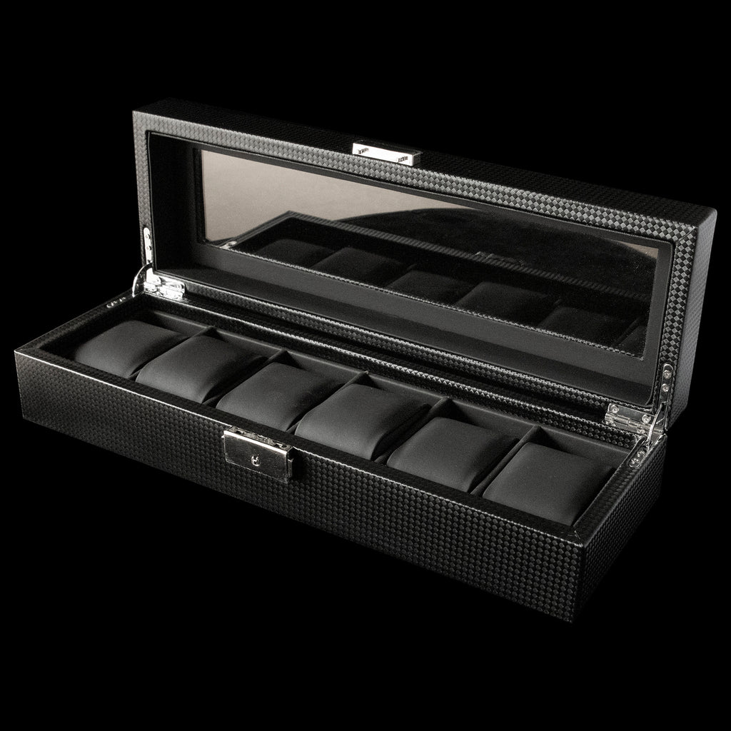 Watch Box - 6 Slot Black