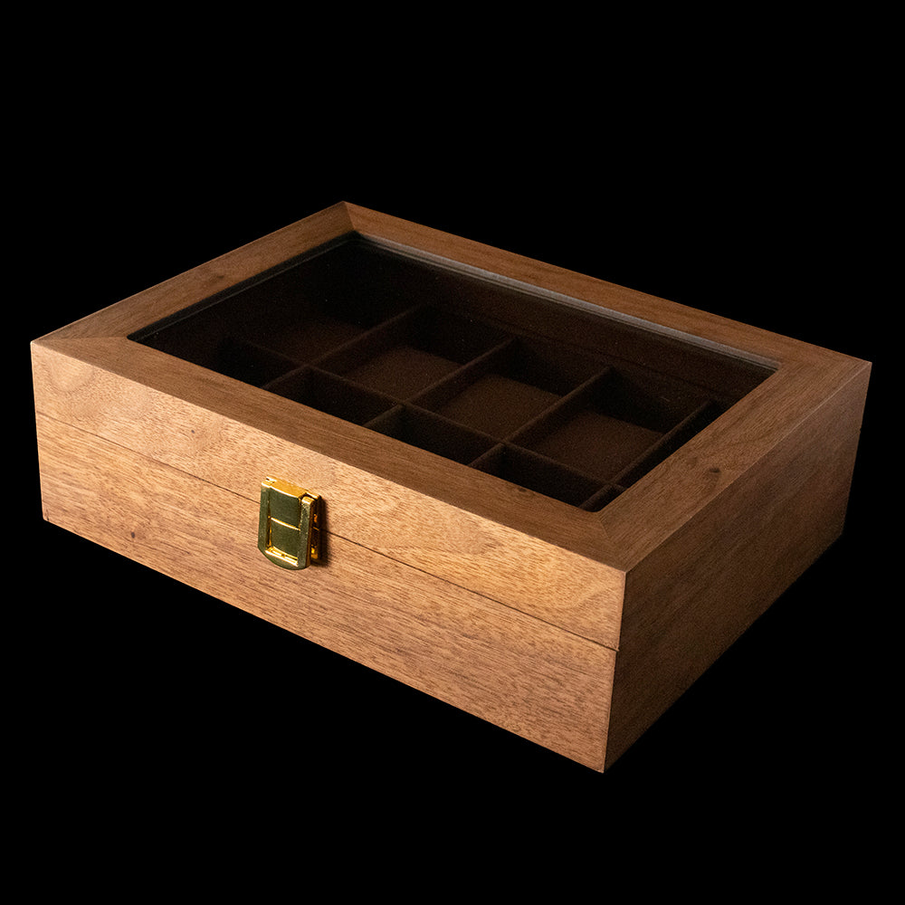 Watch box - Dark Brown Wood 10 slot