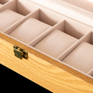 Watch box - Light brown wood 6 slot