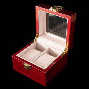 Watch Box - Wooden Rose 2 Slot