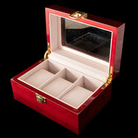 Watch Box - Wooden Rose 3 Slot