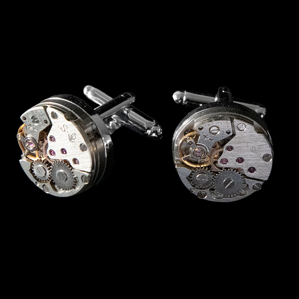 Cufflinks - Genuine Watch Movement