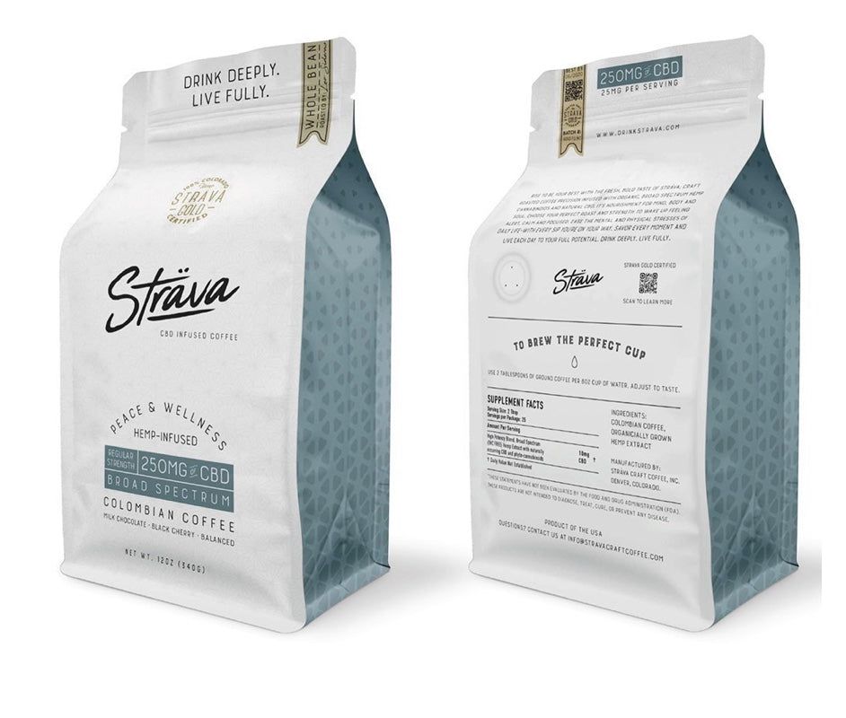 Strava Craft Infused CBD Coffee ~ 12oz Bag