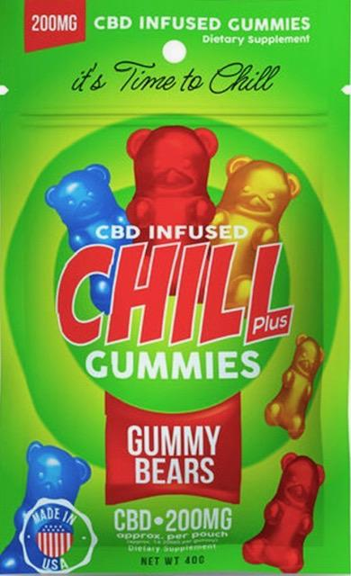 Chill Plus CBD Infused Gummies ~ 200mg Pouch