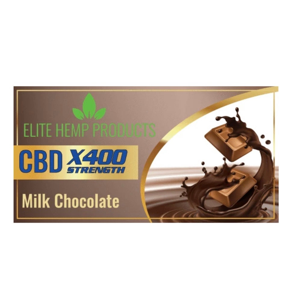 ELITE CBD Chocolate Bar ~ 400mg