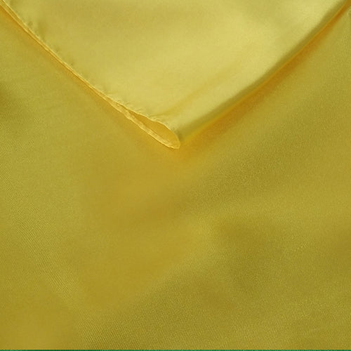 Yellow Satin Table Runner