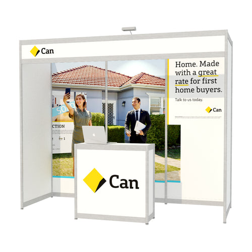 3m x 1m Octanorm Expo Stand - Custom Print