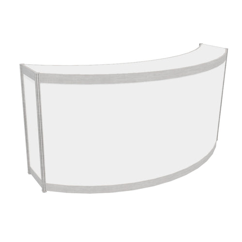 Curved Counter with White Top - 30cm