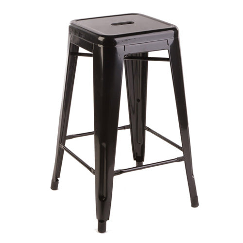 Black Industry Bar Stool