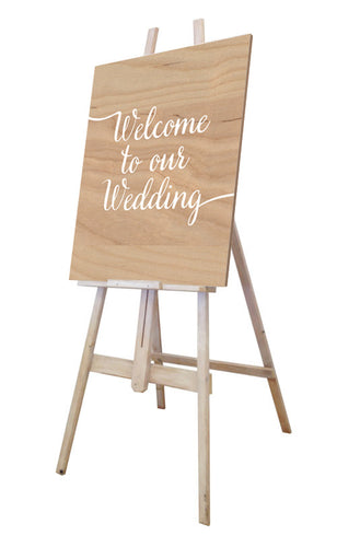 Welcome Sign & Easel