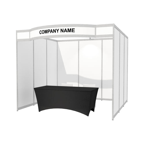 3m x 3m Octanorm Expo Stand - Curved Fascia