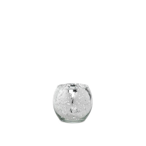 Round Silver Tealight Votive