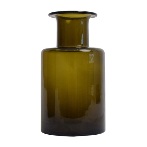 Glass Bottle Vase - Green