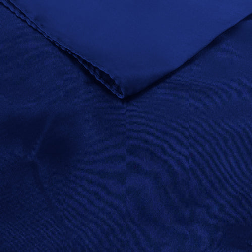 Dark Blue Satin Table Runner