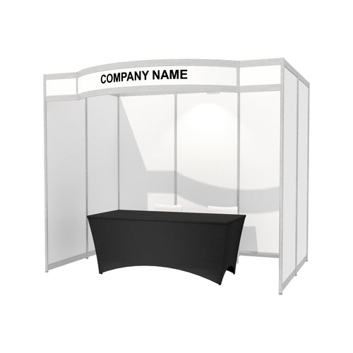 3m x 2m Octanorm Expo Stand - Curved Fascia