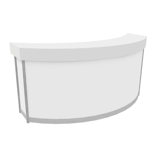 Curved Counter with Solid Top