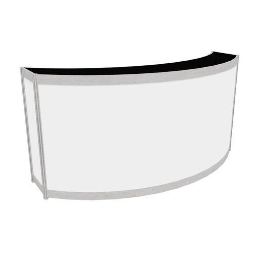 Curved Counter with Black Top - 30cm