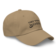 Load image into Gallery viewer, Work Brand Khaki Dad Hats (Black Embroidery)