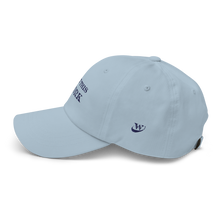 Load image into Gallery viewer, Work Brand Light Blue Dad Hat (Navy Embroidery)