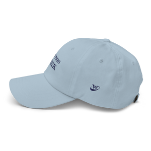 Work Brand Light Blue Dad Hat (Navy Embroidery)