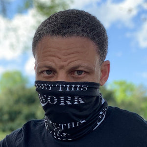 Work Brand Black Neck Gaiter Mask