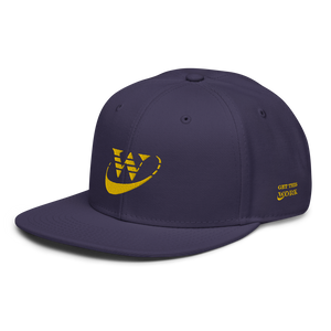 Work Driven Navy Snapback Hat (Gold Embroidery)