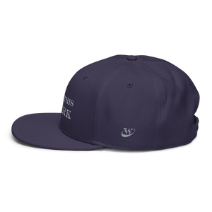 Work Brand Navy Snapback Hat (White Embroidery)