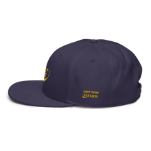 Load image into Gallery viewer, Work Driven Navy Snapback Hat (Gold Embroidery)