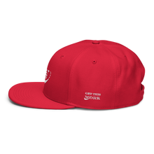Load image into Gallery viewer, Work Driven Red Snapback Hat (White Embroidery)