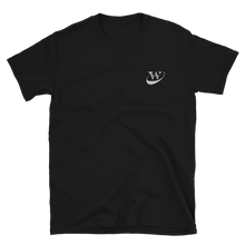 Load image into Gallery viewer, Work Driven Embroidered Black T-Shirt (White logo)