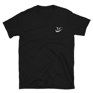 Work Driven Embroidered Black T-Shirt (White logo)