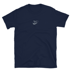 Work Driven Embroidered Navy T-Shirt (Gray logo)